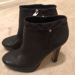NEW Leather coach ankle boots 10